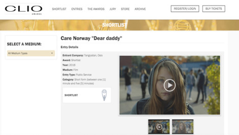 Dear Daddy is short listed and finalist!!!